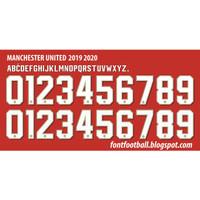 Custom Nameset font MANCHESTER UTD 2019-2020.UCL Version