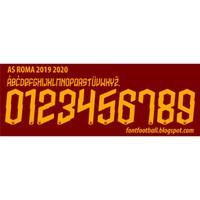 Custom Nameset font AS ROMA 2019-2020