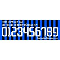 Custom Nameset font INTER MILAN 2019-2020.