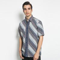 Alisan Kemeja Lengan Pendek Batik Reguler 10469 BTKRG10469BIRUSS