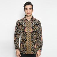 Alisan Kemeja Lengan Panjang Batik Kombinasi Orange BTKKB10471 Slimfit