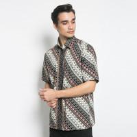Alisan Kemeja Lengan Pendek Batik Reguler 10469 BTKRG10469HITAMSS