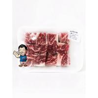 Saikoro Beef Wagyu Cubes US prime Shortrib Boneless 300g- Daging Sapi