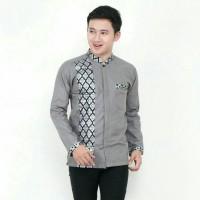Harga baju koko pria muslim lengan panjang silver fashion | antitipu.com