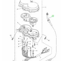 Kabel Speedometer Jupiter Z New 2010-2012 31B-H3550 Yamaha Genuine