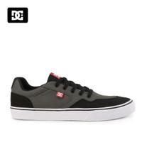 Sepatu DC Pria Rowlan Sneakers Kasual Black Grey Original