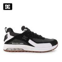 Sepatu DC Pria Vandium Sneakers Kasual Black White Original