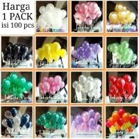 Balon Latex Metalik 1 PACK ISI 100 Pcs / Balon Per Pack / Balon Karet