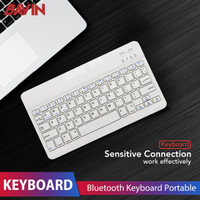 Mini Wireless Bluetooth Keyboard Slim Thin Design for Windows IOS PC - Hitam