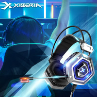 Xiberia X13 Headset Gaming Heavy Bass Over-ear Headphone Silver