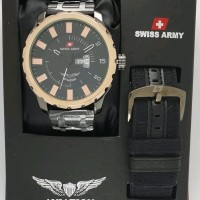 TERBARU jam tangan pria swiss army ukuran diameter besar 5cm