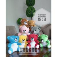 Boneka Teddy Bear Mini Warna cocok untuk souvenir atau tambahan bucket
