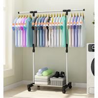 Stand Hanger Multifungsi Rak Gantungan Baju Bahan Stainless Stell