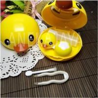TEMPAT softlens case karakter bebek/duck