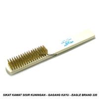 Sikat Kawat Sisir Kuningan Halus - Gagang Kayu - Eagle Brand No.220