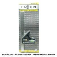 Siku Tukang + Waterpass 12 Inch - Haston Prohex - 4081-005