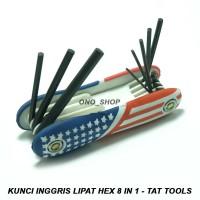 Kunci Inggris Lipat Hex 8 in 1 - Tat Tools