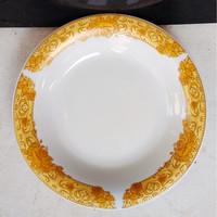 Piring Makan Omega Gold 24 cm Mawar