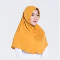 Terbaru Elzatta Hijab/Hijab Instan/Bergo/E002 Mustard Murah Kerudung