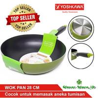 Yoshikawa Teflon/Wajan Tumis 28cm Wok Pan CL-12-05