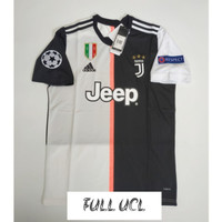 FULL PATCH UCL JERSEY BOLA JUVENTUS HOME 2019/2020 GRADE ORI