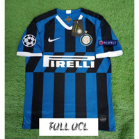 FULL PATCH UCL JERSEY BOLA INTER MILAN HOME 2019/2020 GRADE ORI