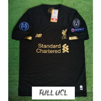 FULL PATCH UCL JERSEY BOLA LIVERPOOL GK 2019/2020 GRADE ORI