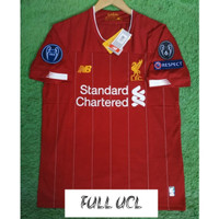 FULL PATCH UCL JERSEY BOLA LIVERPOOL HOME 2019/2020 GRADE ORI