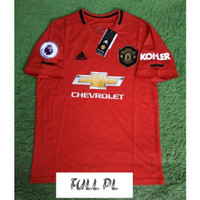 FULL PATCH EPL JERSEY BOLA MANCHESTER UNITED HOME 2019/2020 GRADE ORI