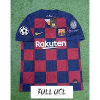 FULL PATCH UCL JERSEY BOLA BARCELONA HOME 2019/2020 GRADE ORI