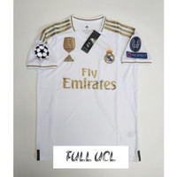 FULL PATCH UCL JERSEY BOLA REAL MADRID HOME 2019/2020 GRADE ORI