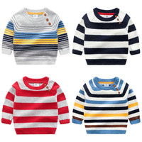 SWEATER HANGAT ANAK MOTIF GARIS / SWEATER COOL BOY