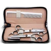 Set Gunting Rambut Sasak & Flat Hairdressing Scissors - XK10 BARU