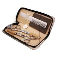 1 Set Gunting Rambut Sasak & Flat Hairdressing Scissors - GL37
