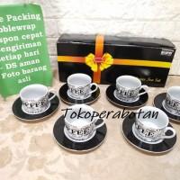 Cangkir Set Kopin Motif Kopi / Coffee Set / Tea Set