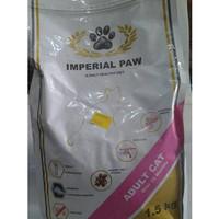 makanan kucing super premium imperial paw cat adult 1,5 kg