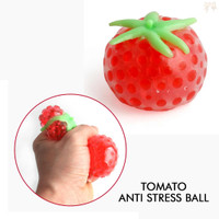 Tomato Anti Stress Ball / Squishy Jelly Balls Squeeze Toy Fruit Tomat