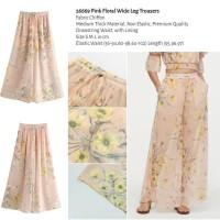 Pink Floral Wide Leg Trousers (size S,M,L) -26669