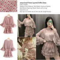 Small Flower Layered Chiffon Dress (size S,M) -26649
