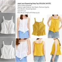 Lace Drawstring Strap Top (YELLOW,WHITE size S,M) -26561