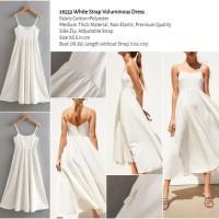 White Strap Voluminous Dress (size XS,S) -26553
