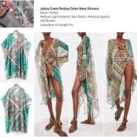 Green Paisley Outer Wear Kimono -26604