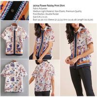 Flower Paisley Print Shirt (size S,M,L) -26704