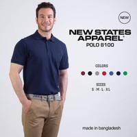 Kaos Polos New States Premium Cotton Polo Shirt 8100 COLOR,SIZE S-XL