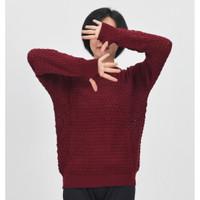 POP Okechuku Knit Sweater Rajut Wanita Lubang Jempol Korean Style