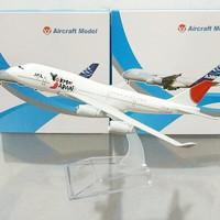 Diecast Pesawat B747 JAL Jepang