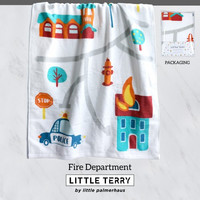Little Terry Baby Towel - Fire Department