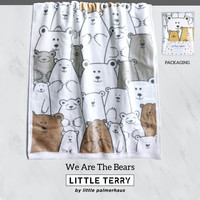 Little Terry Baby Towel - We Are The Bears