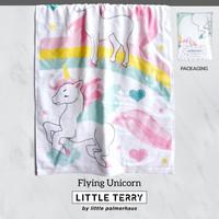 Little Terry Baby Towel - Flying Unicorn