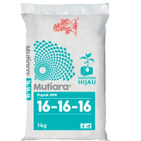Pupuk NPK Mutiara 16-16-16 kemasan 1 kg